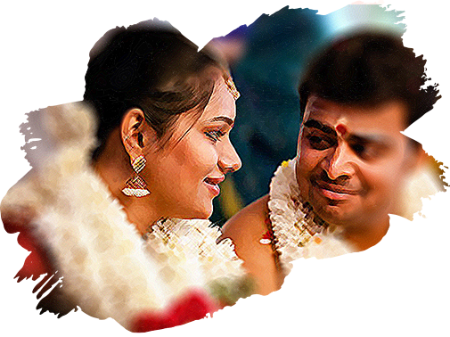 Wedding couple at Vijaya Raja Marriage hall